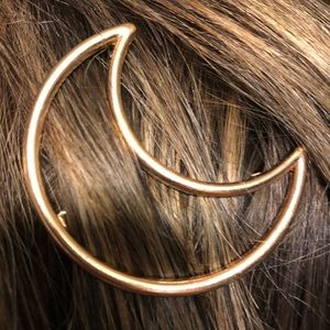 Other - Celestial moon shaped gold hair barrette